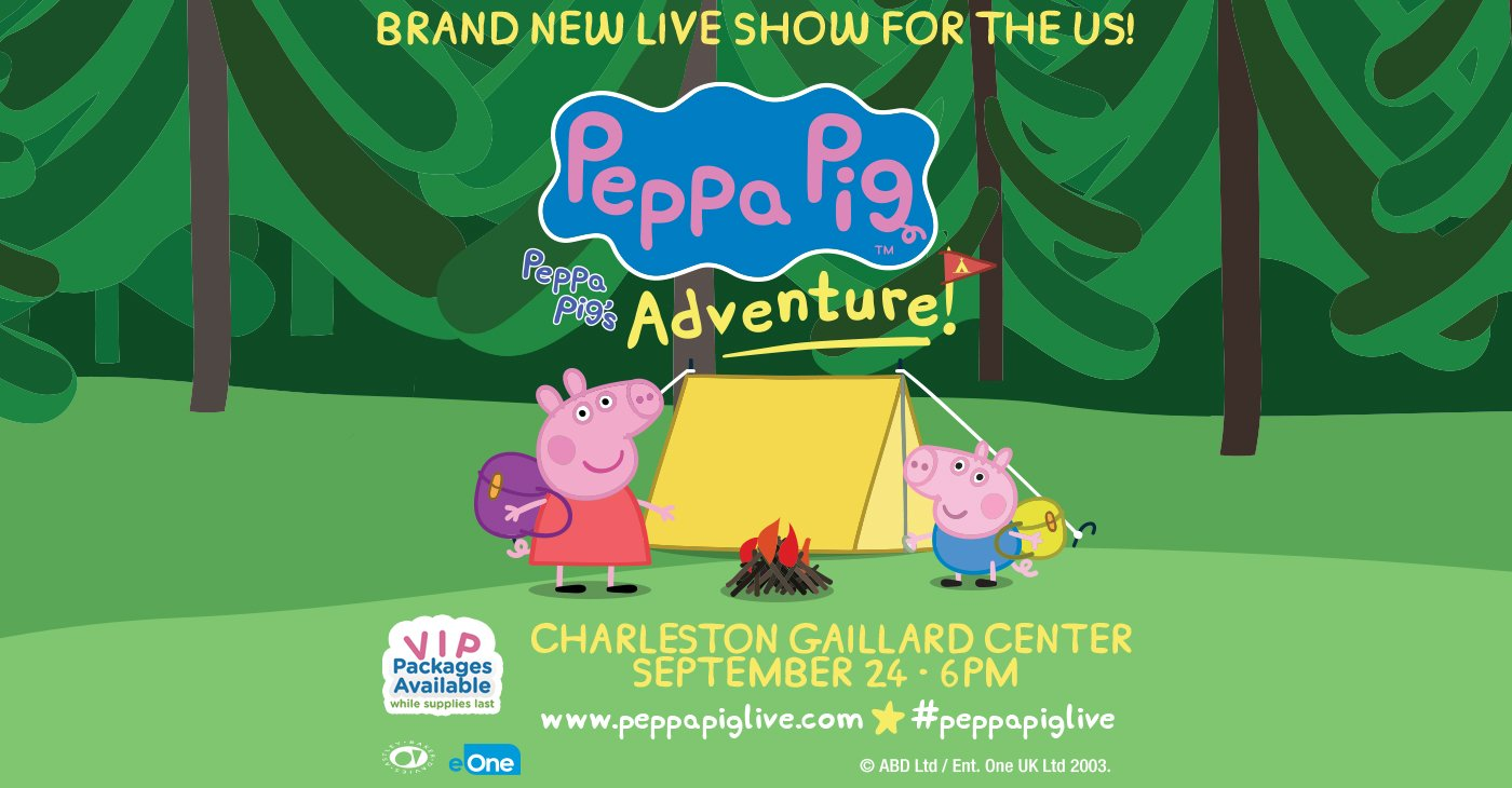 Peppa Pig Live! @ Charleston Gaillard Center | Charleston | South Carolina | United States
